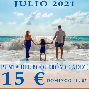 Excursión a la Punta del Boquerón, Playa de Camposoto, San Fernando (Ida y Vuelta). 11/07/2021