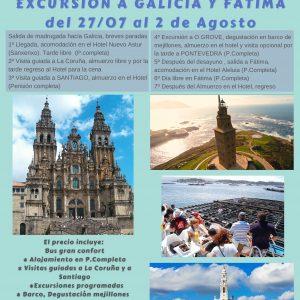 Excursión a GALICIA y FÁTIMA, del 27/07 al 2/08/21, 7 días