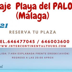 Excursión a la Playa de El Palo, Málaga (Ida y Vuelta). 17/07/2021